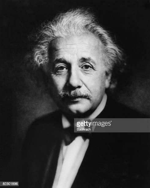 Formal portrait of German theoretical physicist Albert Einstein in formalwear with a black bow tie Philadelphia 1936