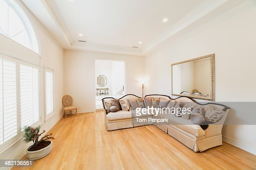 Formal Sofa In Minimalist Living Room Stock Photo Getty Images