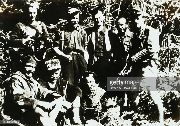 Formation of partisans in the mountains of Vicenza World War II Resistance Italy 20th century Vicenza Museo Del Risorgimento E Della Resistenza