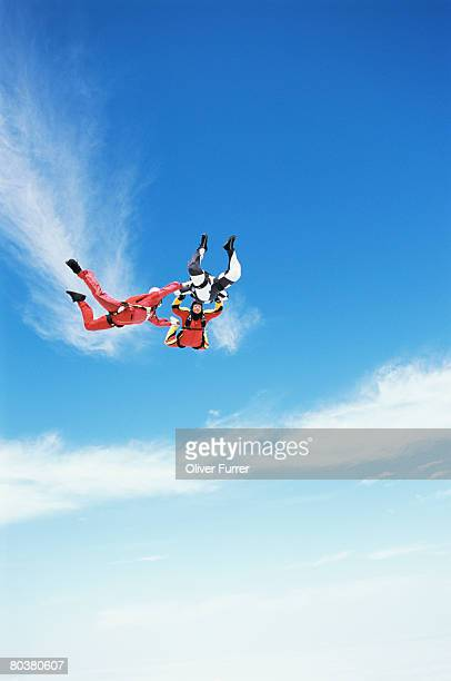 Formation of skydivers