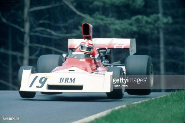 Formel 1 Grand Prix Deutschland 1973 Nuerburgring Nordschleife Clay Regazzoni BRM P160E Sprung wwwhochzweinet copyright HOCH ZWEI / Ronco