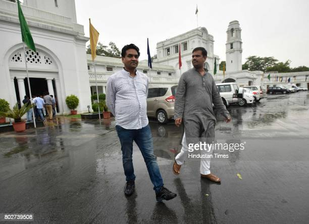 Former AAP minister Kapil Mishra during the assembly session at Delhi Assembly on June 28 2017 in New Delhi India