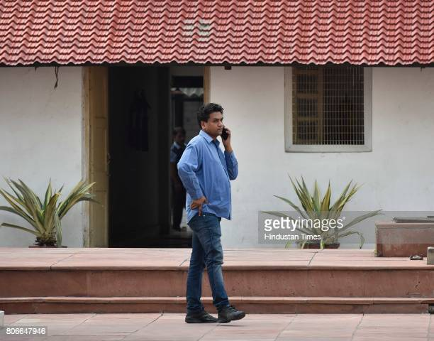 Former AAP Minister Kapil Mishra during the assembly session at Delhi Assembly on July 3 2017 in New Delhi India
