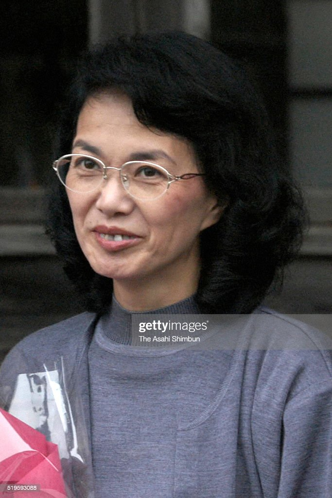 Former abductee by North Korea Fukie Hamamoto is seen on October 20 2002 in Obama Fukui Japan