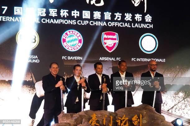 Former AC Milan defender Franco Baresi former Borussia Dortmund player Lars Ricken former FC Bayern Munich player Hasan Salihamidzic former Arsenal...