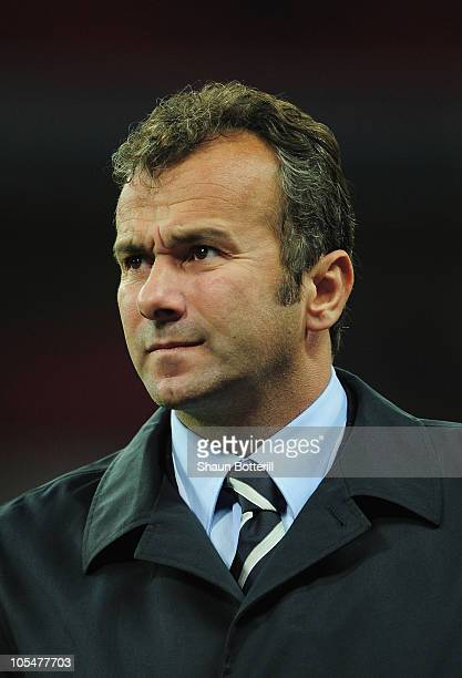 Former AC Milan player Dejan Savicevic during the UEFA EURO 2012 Group G Qualifying match between England and Montenegro at Wembley Stadium on...