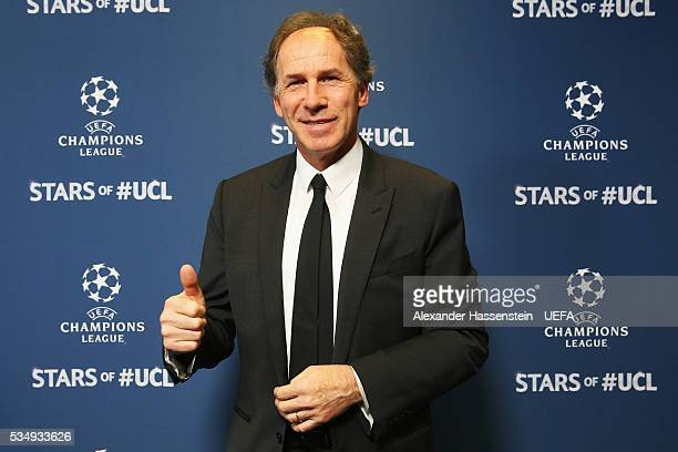 Former AC Milan player Franco Baresi attends the UEFA Champions League Final between Real Madrid and Club Atletico de Madrid at Stadio Giuseppe...