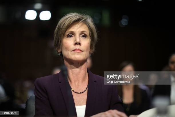 Former acting US Attorney General Sally Yates testifies before the Senate Judiciary Committee's Subcommittee on Crime and Terrorism in the Hart...