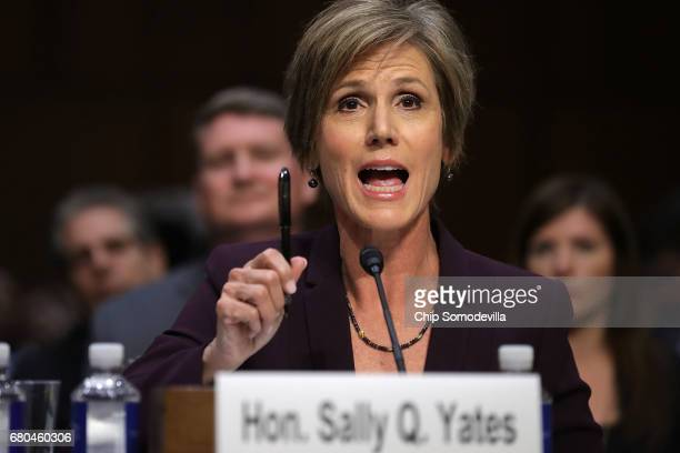 Former acting US Attorney General Sally Yates testifies before the Senate Judicary Committee's Subcommittee on Crime and Terrorism in the Hart Senate...