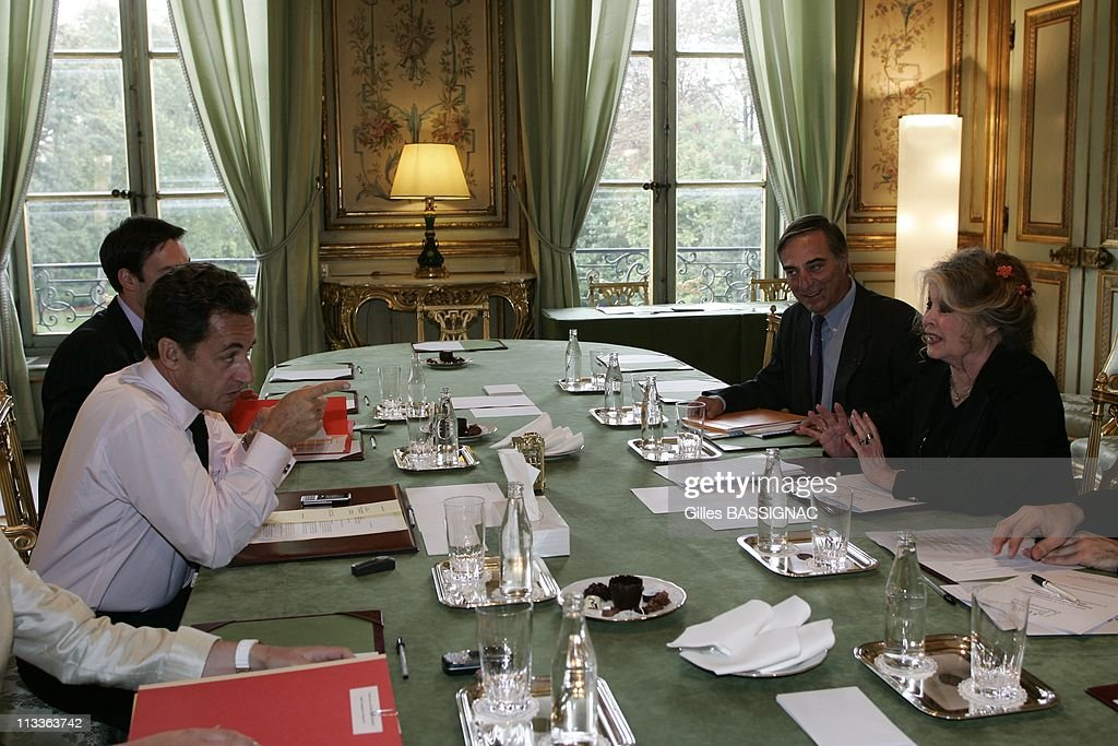 Former Actress And Now Animals Rights Activist Brigitte Bardot Invited For A Meeting On The Environment With French President Nicolas Sarkozy, At The Elysee Palace In Paris, France On September 27, 2007 -