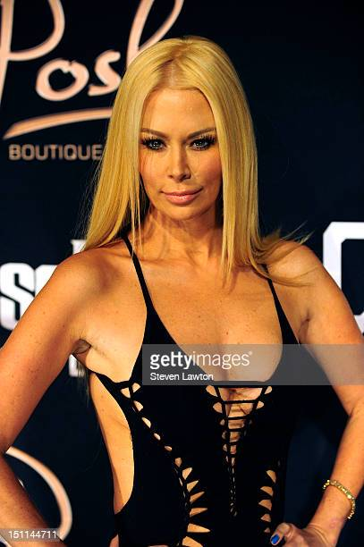 Former adult film actress Jenna Jameson arrives at the Crazy Horse III Gentlemen's Club at Playground to host a Labor Day weekend party on September...