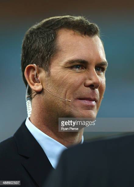 Former AFL player Wayne Carey looks on before the round eight AFL match between the Sydney Swans and the Hawthorn Hawks at ANZ Stadium on May 9 2014...