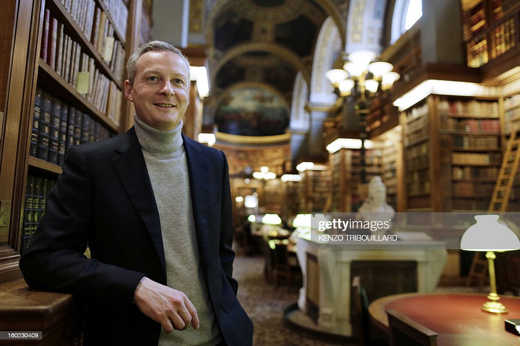 Former Agriculture minister and UMP right-wing opposition party MP Bruno Le Maire poses on January 28, 2013, in the librairy of the National Assembly in Paris. AFP PHOTO KENZO TRIBOUILLARD