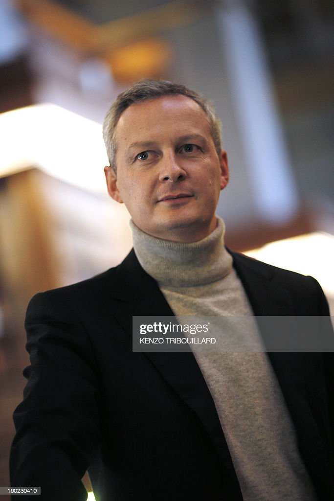 Former Agriculture minister and UMP right-wing opposition party MP Bruno Le Maire poses on January 28, 2013 at the National Assembly in Paris.