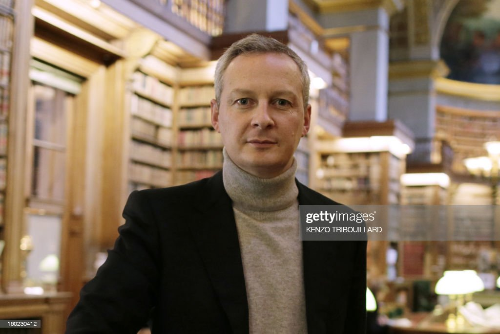 Former Agriculture minister and UMP right-wing opposition party MP Bruno Le Maire poses on January 28, 2013 at the National Assembly in Paris. AFP PHOTO KENZO TRIBOUILLARD
