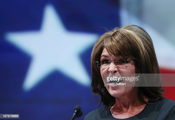 Former Alaska Gov Sarah Palin speaks during the 2013 NRA Annual Meeting and Exhibits at the George R Brown Convention Center on May 3 2013 in Houston...