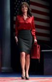 Former Alaska Governor Sarah Palin walks onstage to address the Conservative Political Action Conference at the Marriott Wardman Park Hotel on...
