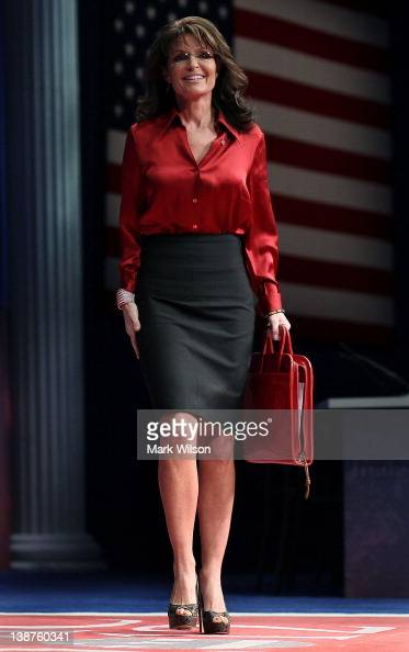 Former Alaska Governor Sarah Palin walks onstage to address the Conservative Political Action Conference at the Marriott Wardman Park Hotel on...