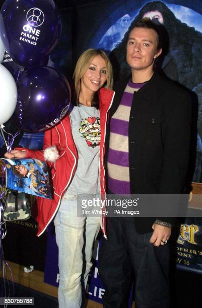 Former All Saint Natalie Appleton and her boyfriend Liam Howlett from the Prodigy arrive for a Harry Potter celebrity screening preparty in aid of...