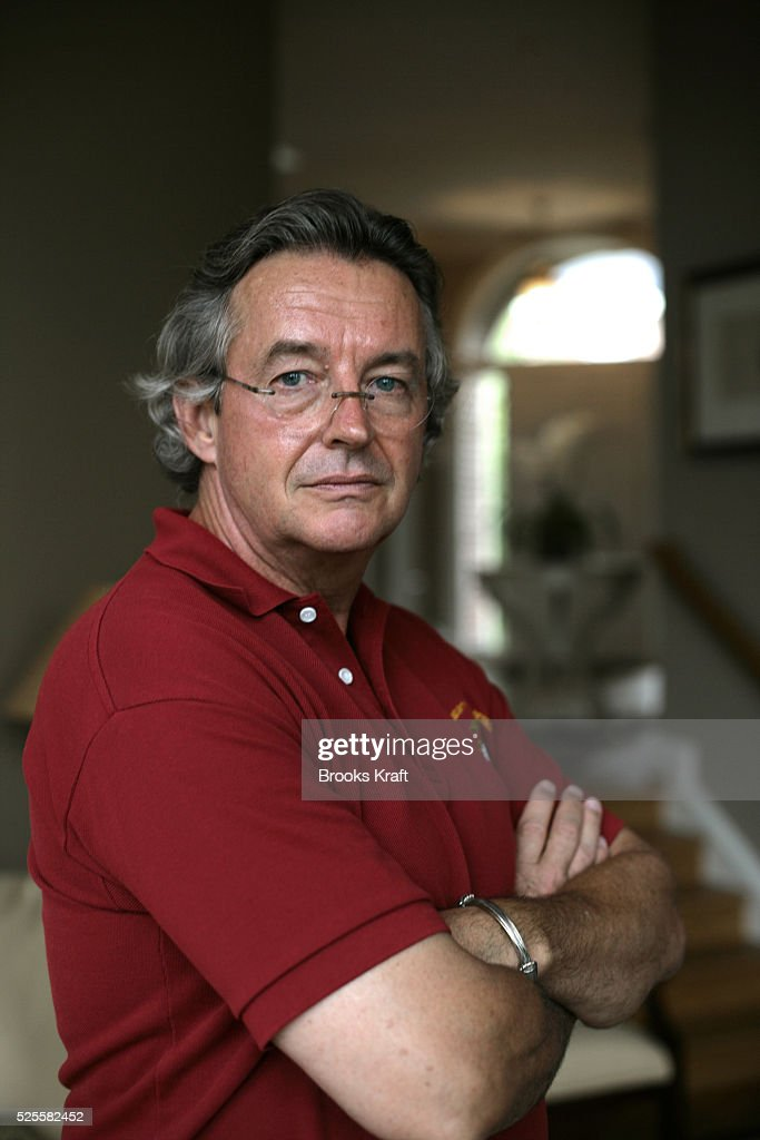 Former Ambassador Joseph Wilson in his Washington DC home July 14 2005 Wilson the husband of a CIA agent Valerie Plame was sent to Niger in 2003 to...