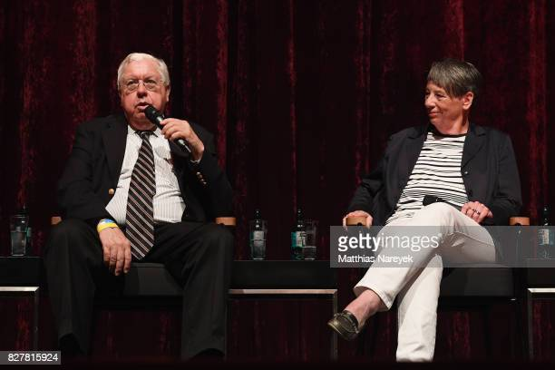 Former Ambassador to Germany John Kornblum and Federal Minister of the Environment Barbara Hendricks speak on stage at a QA after a special screening...