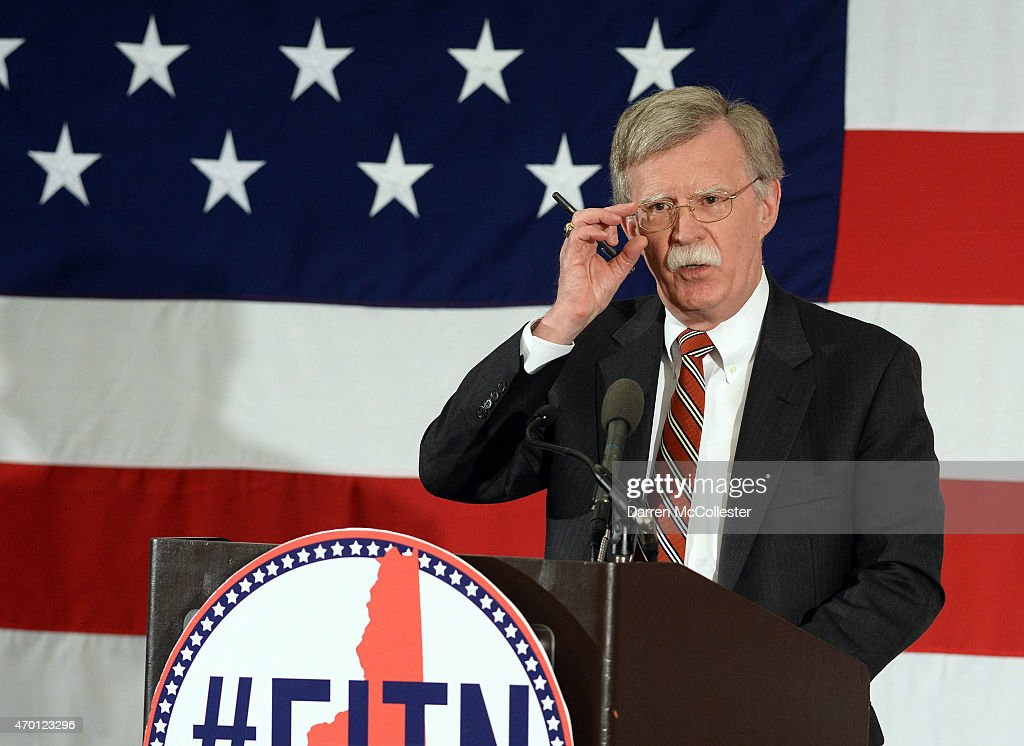 Former Ambassador to the United Nations John Bolton speaks at the First in the Nation Republican Leadership Summit April 17 2015 in Nashua New...