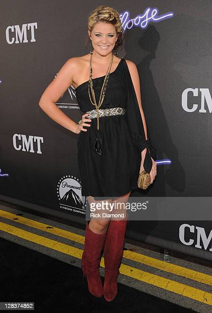 Former American Idol Lauren Alaina attends FOOTLOOSE Nashville screening on October 6 2011 in Nashville Tennessee
