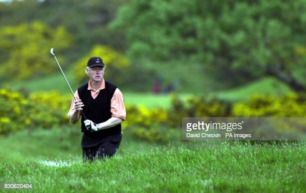 Former American President Bill Clinton enjoys a round of golf on the Old Course at the Royal and Ancient Golf Club in St Andrews Scotland Mr Clinton...