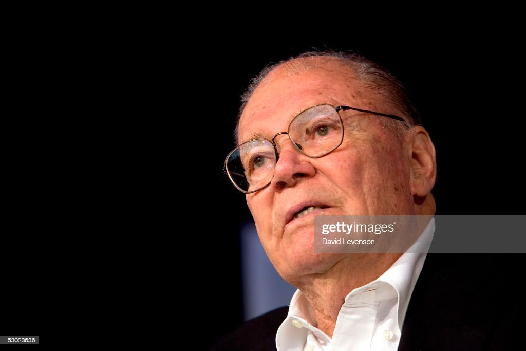 Former American Secretary of Defence and Nobel Prize winner Robert McNamara discusses nuclear weapons at 'The Guardian Hay Festival 2005' held at Hay on Wye on June 5, 2005 in Powys, Wales. The festival runs until June 5.
