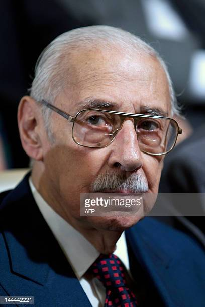 Former Argentine general and dictator Jorge Rafael Videla awaits for his sentence with other defendants during his trial for the murder of 31...