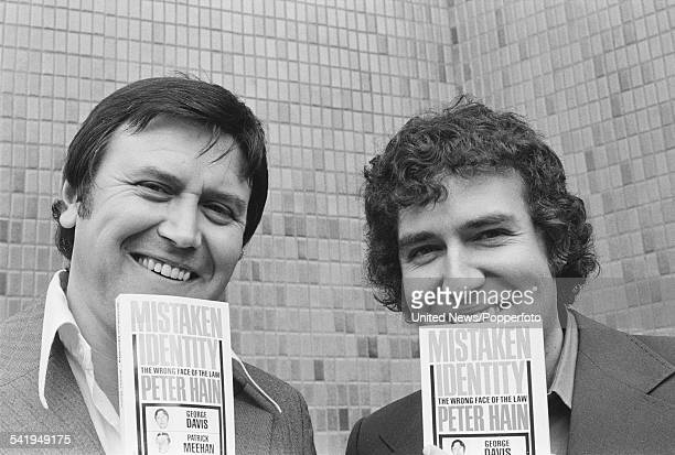 Former armed robber George Davis pictured with campaigner and politician Peter Hain at a press event to launch Hain's book 'Mistaken Identity' in...