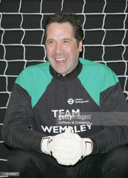 Former Arsenal and England goalkeeper David Seaman during the press launch March 27 of the reopening of the new Wembley Park Tube station