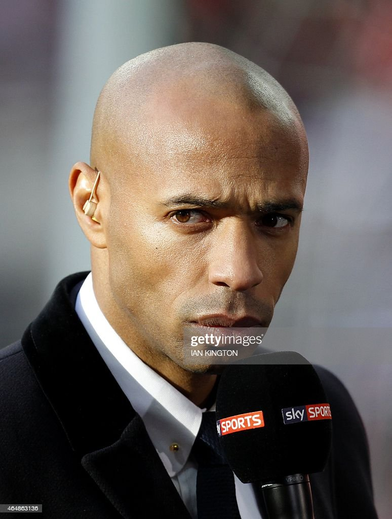 Former Arsenal and France footballer and now Sky television pundit Thierry Henry on the pitch ahead of the English League Cup Final football match...