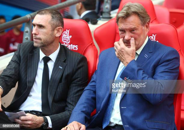 Former Arsenal playerMartin Keown and Former England Manger Glenn Hoddle during The Emirates FA Cup Final between Arsenal against Chelsea at Wembley...