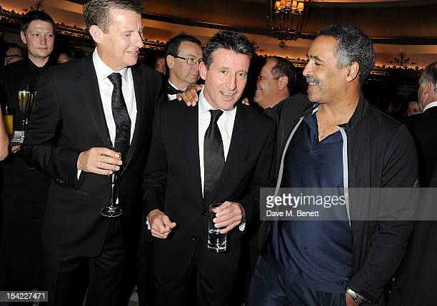 Former athlete Steve Cram Lord Sebastian Coe and former decathlete Daley Thompson attend Lord Coe's 'Journey to 2012' event for the PSP Association...