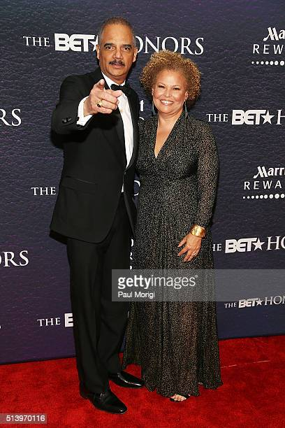 Former Attorney General of the United States Eric Holder and BET Chairman and Chief Executive Officer Debrah Lee attend the BET Honors 2016 at Warner...