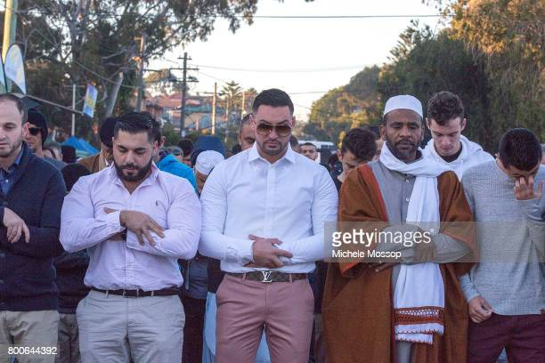 Former Auburn Deputy Mayor Salim Mehajer who is fighting electoral fraud charges joins in the prayers as worshipers flock to the The Imam Ali Bin Abi...