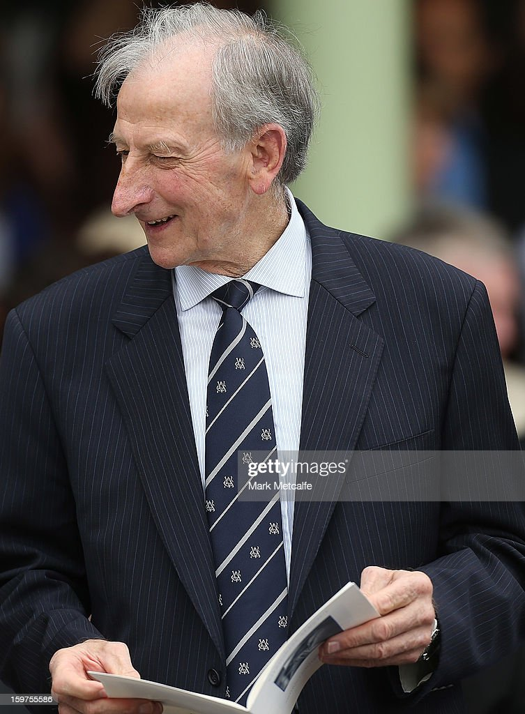Former Australian captain and commentator Bill Lawry attends the Tony Greig memorial service at Sydney Cricket Ground on January 20, 2013 in Sydney, Australia.