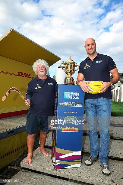Former Australian Captain Nathan Sharpe and boomerang expert Laddie Timbery take on DHL's Rugby v Boomerang Challenge as part of the Rugby World Cup...