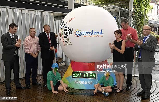 Former Australian Cricket player Ian Healey Federal Minister for Sport Peter Dutton Former Australian Womens Cricket player Belinda Clarke Former...