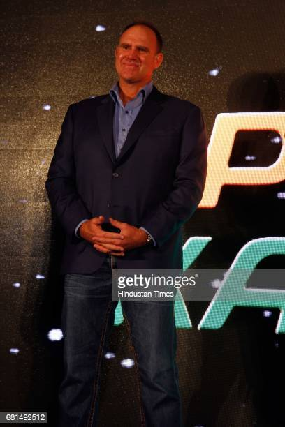 Former Australian cricketer Matthew Hayden during the Vivo Pro Kabaddi press conference on May 8 in New Delhi India The upcoming fifth season of Pro...