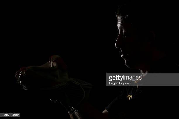 Former Australian International cricketer Luke Ronchi poses for a portrait at Hawkins Basin Reserve on December 26 2012 in Wellington New Zealand