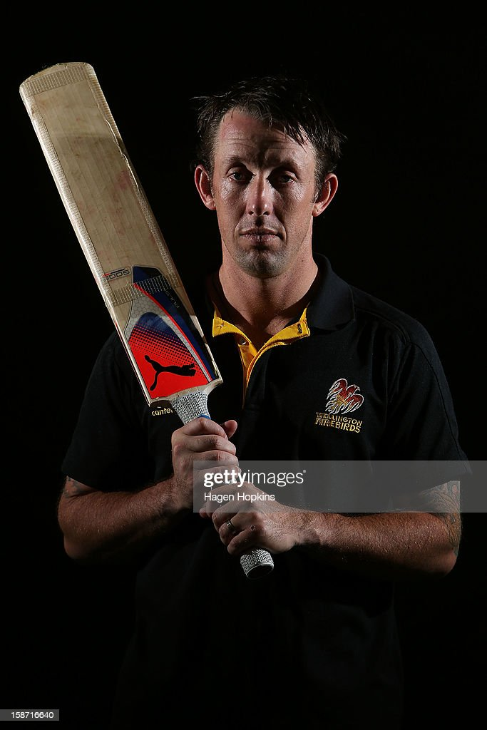 Former Australian International cricketer Luke Ronchi poses for a portrait at Hawkins Basin Reserve on December 26, 2012 in Wellington, New Zealand.