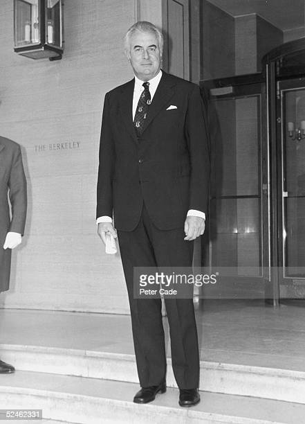 Former Australian Prime Minister Gough Whitlam on his way to an audience with Queen Elizabeth II at Buckingham Palace 29th June 1976 He is expected...