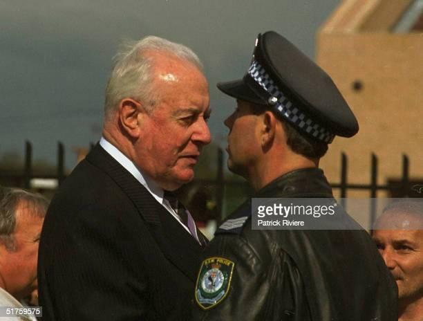9 SEPTEMBER 1999 Former Australian Prime Minister GOUGH WHITLAM State Funeral of murdered Australian Labor Party member for Cabramatta John Newman...
