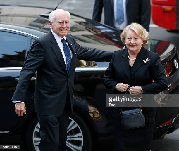 Former Australian Prime Minister John Howard and his wife Janette arrive at the state memorial service for former Australian Prime Minister Gough...