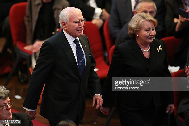 Former Australian Prime Minister John Howard arrives at the state memorial service for former Australian Prime Minister Gough Whitlam at Sydney Town...