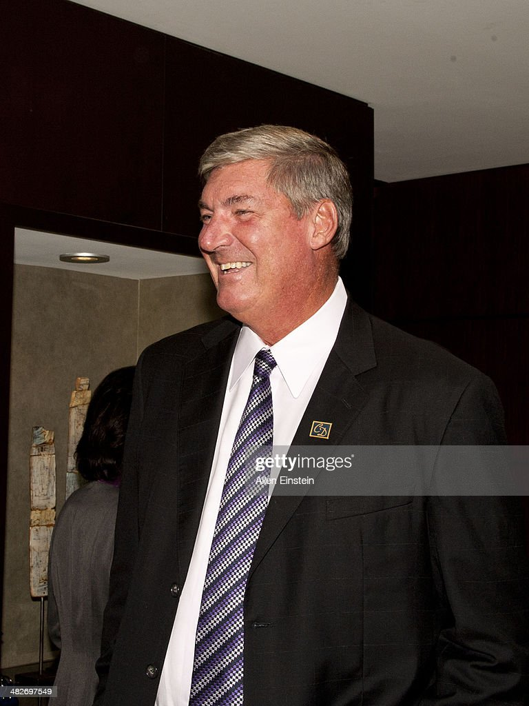 Former 'Bad Boys' Detroit Pistons player Bill Laimbeer attend a game against the Miami Heat to honor the 1989 NBA Championship team and to celebrate the 25th Anniversary of their first NBA Championship at the Palace of Auburn Hills in Auburn Hills, MI on April 02, 2014.