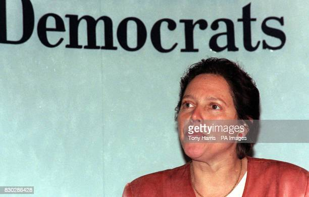 Former banker Susan Kramer the Liberal Democrat candidate for Mayor of London speaking at a London news conference condemned the Conservative record...