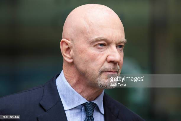 Former Barclays banker Roger Jenkins leaves Westminster Magistrates Court on July 3 2017 in London England Mr Jenkins today appears with three other...